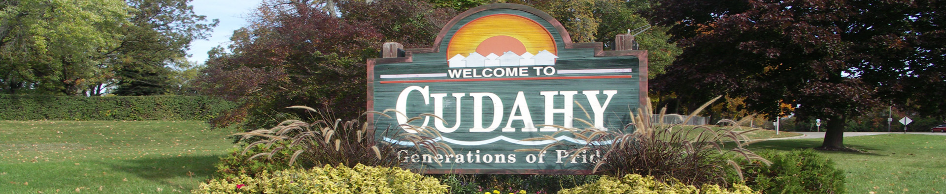 welcome to Cudahy sign