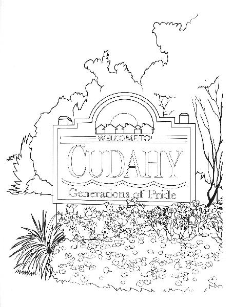 coloring book pages - city sign