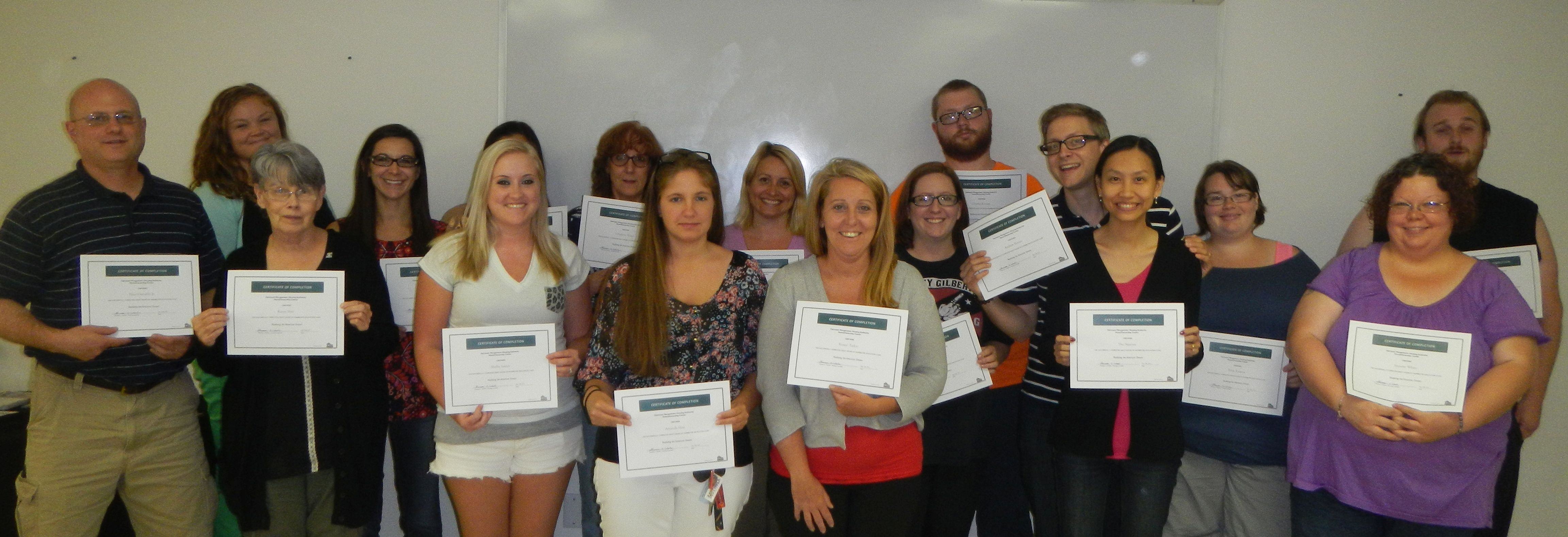 Homebuyer Education Class graduates.