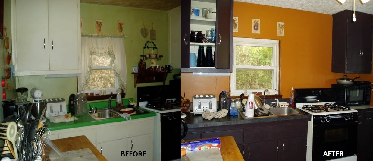 Before & After Kitchen Painting