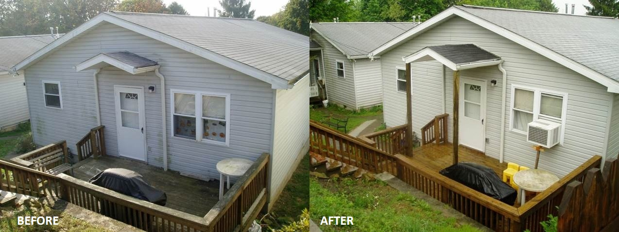 Before and After Siding and Deck