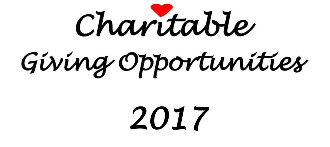 Charitable Giving Opportunities header