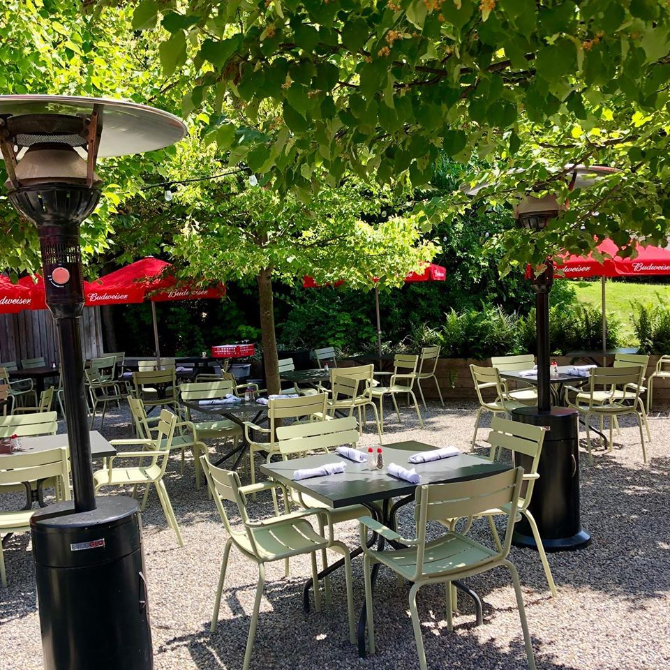The outdoor beer garden at the St.Moritz Grill & Bar, Sparta, NJ
