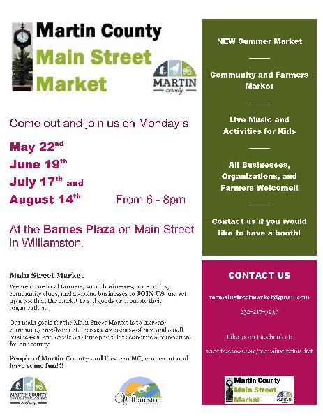 Main Street Market 2017 flyer