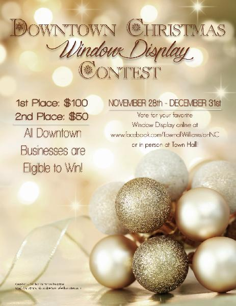 Christmas Window Display Flyer