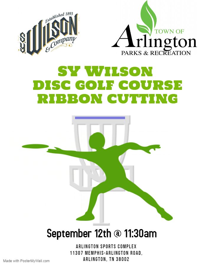 Disc Golf Ribbon Cutting Flyer