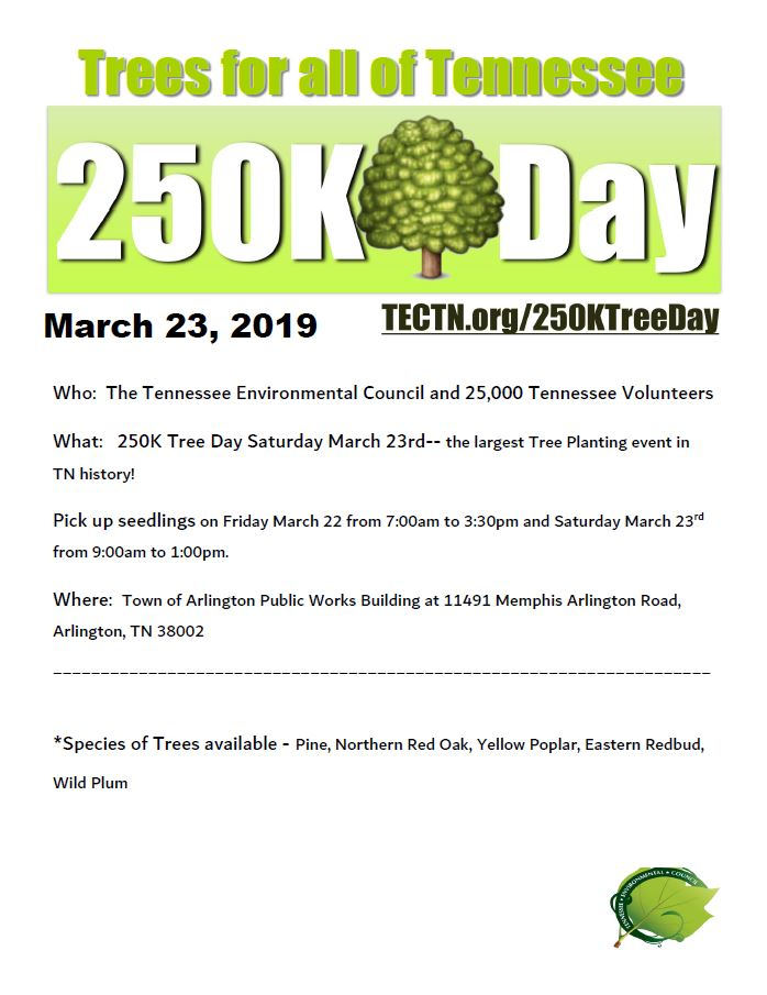 250k Tree Day Flyer 2019