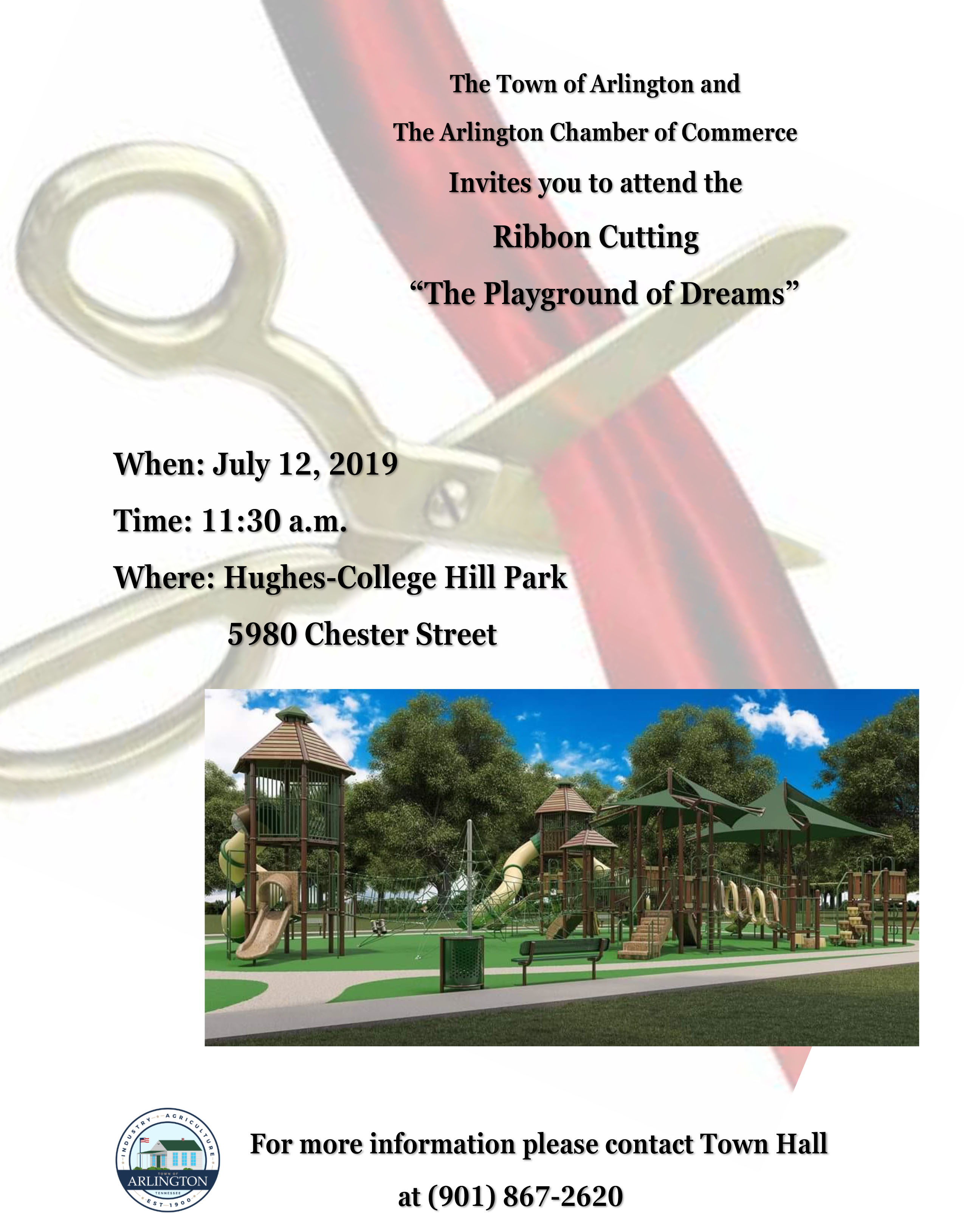 Playground of Dreams Ribbon Cutting