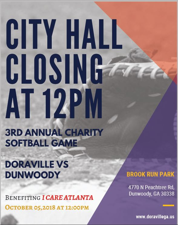 2018 Softball Flyer- City Hall Closing