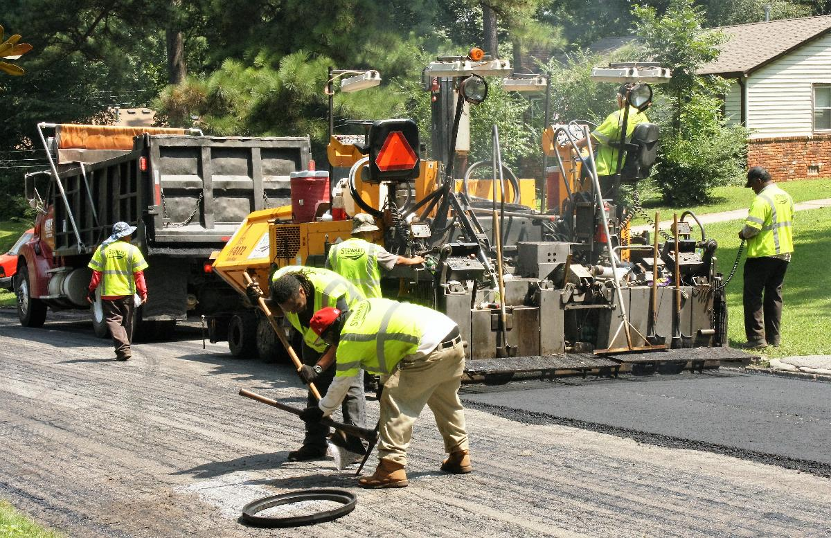 Repaving streets is a regular part of annual capital improvements