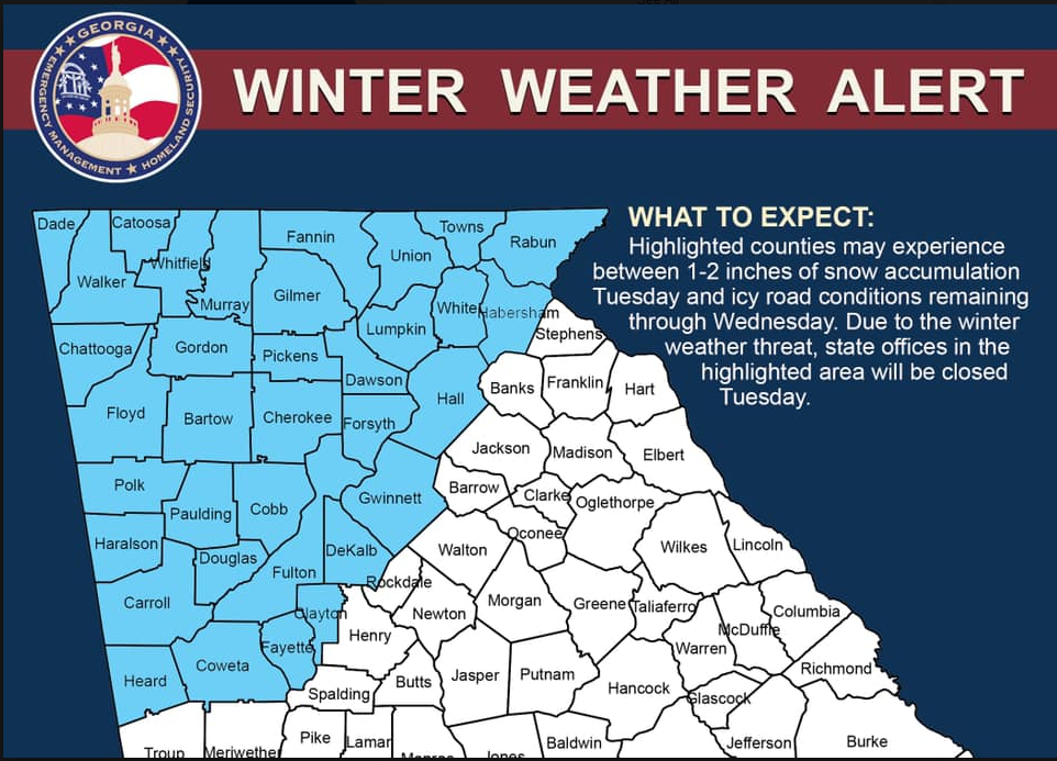 January 29, 2019 Winter Weather Alert