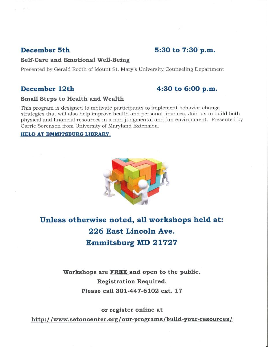 Build Your Resources Workshops Dec