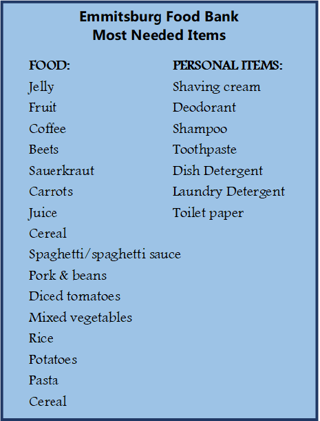 Emmitsburg Food Bank Special Requests