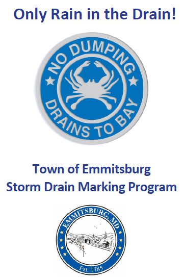 Logo - Town of Emmitsburg for No Dumping Into Bay Program