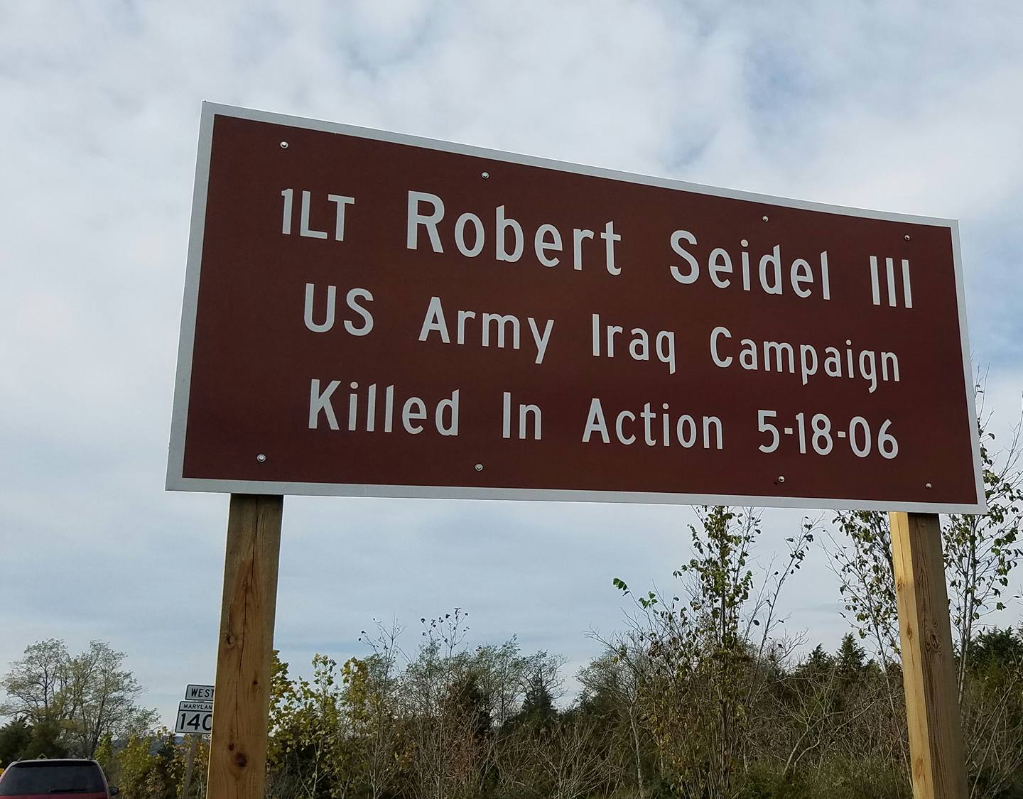 LT Robert Seidel III Sign