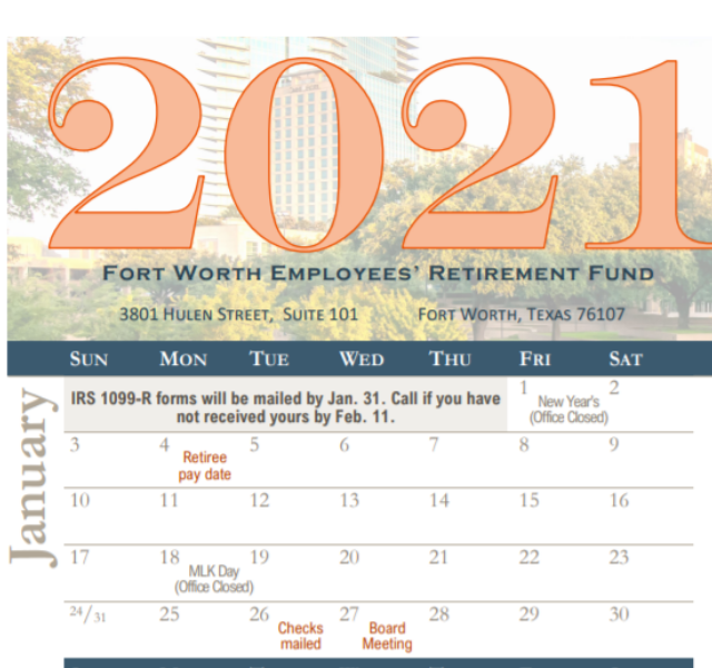 Highlight image - 2021 Calendar