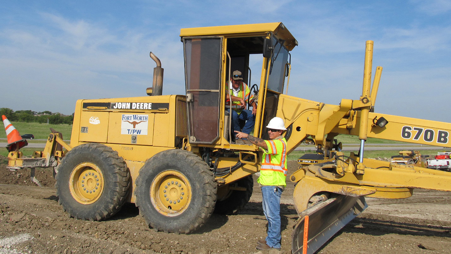 Construction Equipment and City employee