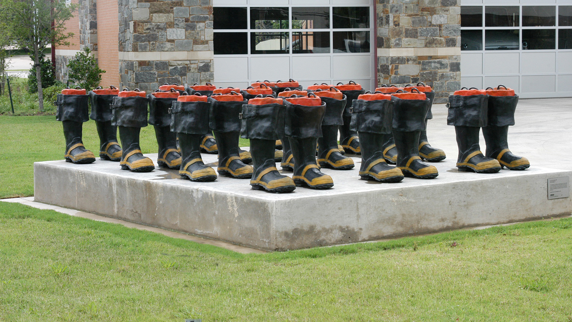 art of boots at fire station