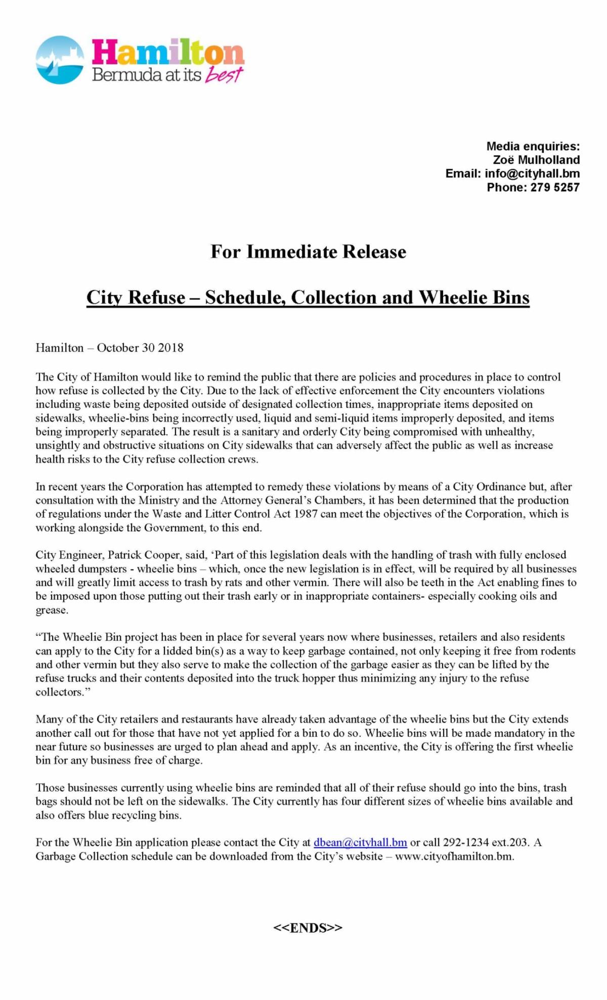 City Of Hamilton Garbage Collection Schedule 2018 Photos