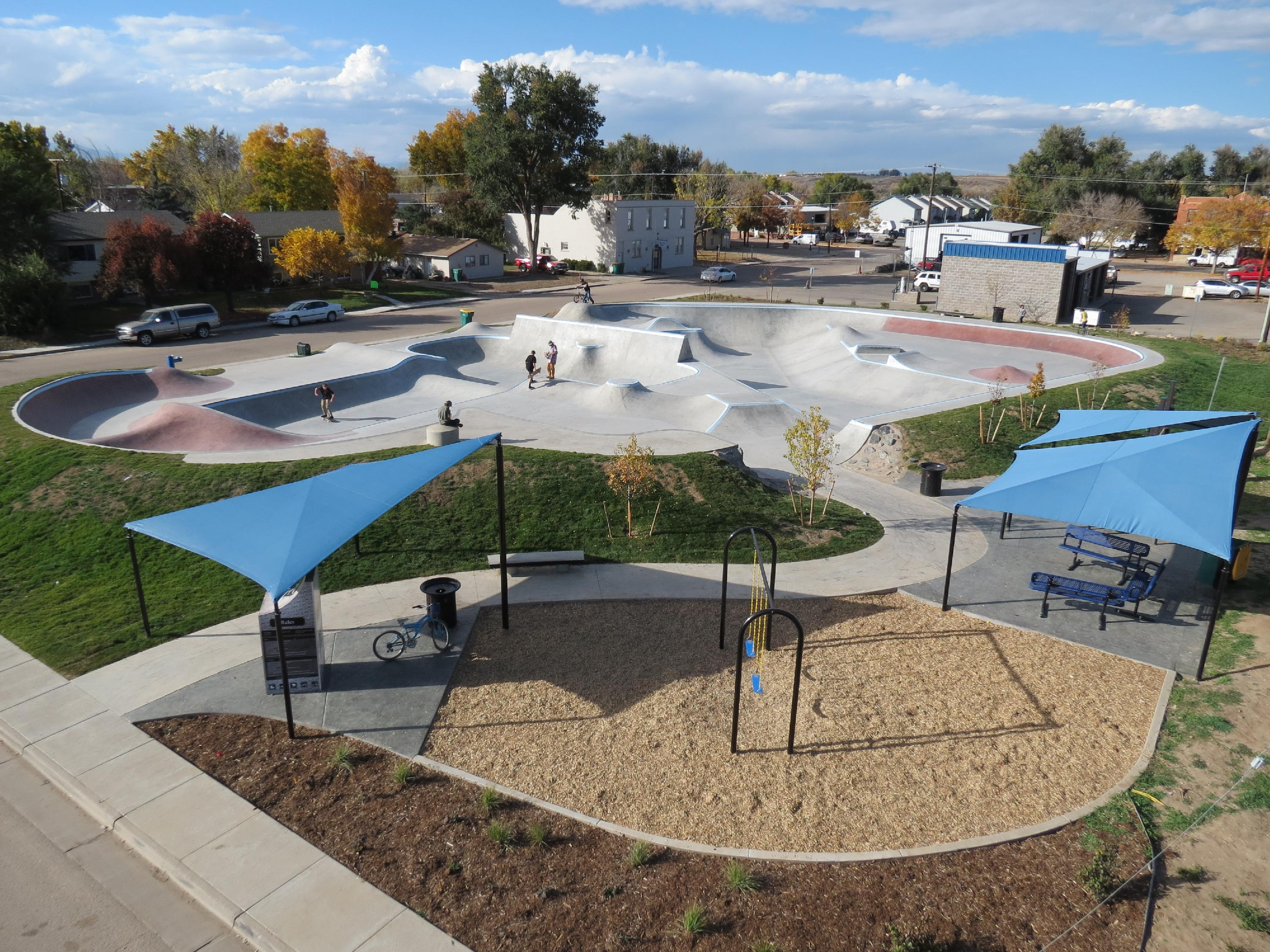Newly Constructed Skate Park 2014