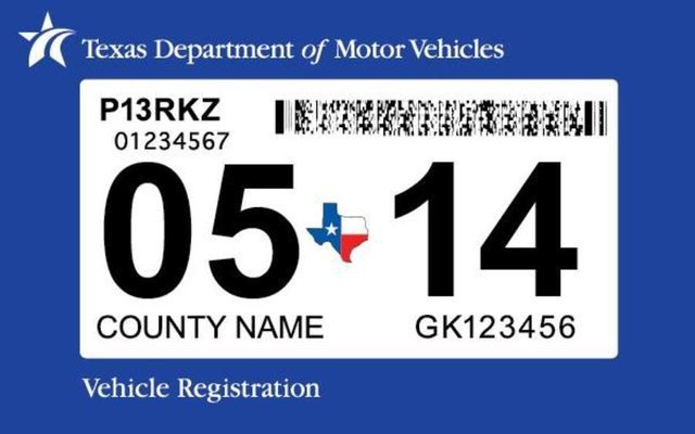 Vehicle Registration Online. registration_sticker