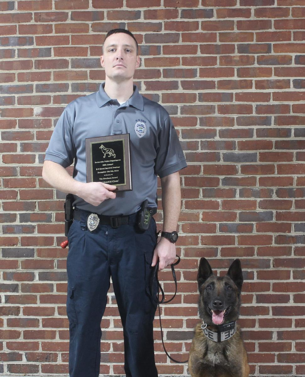 Officer Pressley and Dano Receive Award