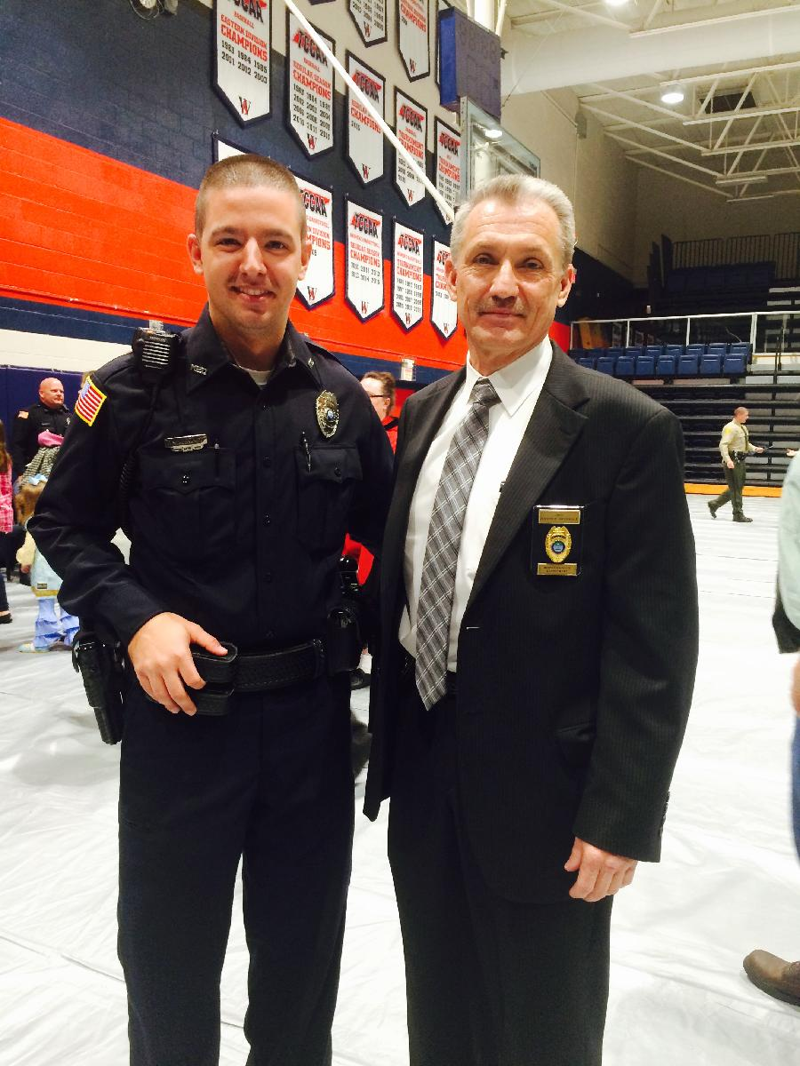 Officer Wintead with Chief Overholt