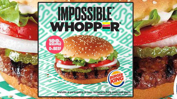 Burger King Tests The New Impossible Whopper