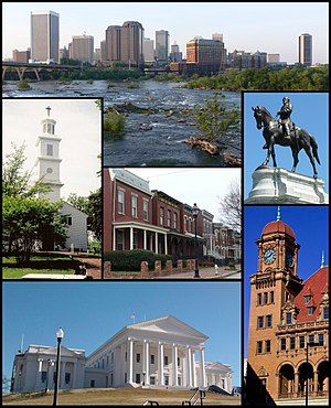 Collage of Landmarks in Richmond, VA