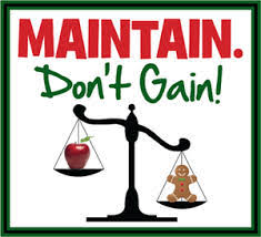 Maintain weight - holidays