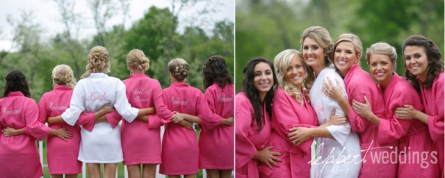 Hohenberger Bridesmaids in Pink Robes