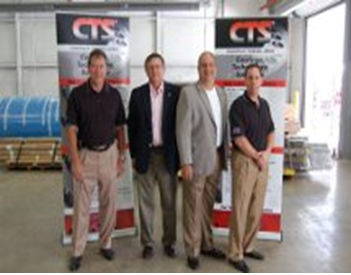 Cincinnati Thermal Spray - From left, Dan Classen, President of CTS, Tom Adamec, Blue Ash City Council Member, Lee Czerwonka, Vice Mayor of Blue Ash, and Scott Paschke, General Manager of CTS - Midwest