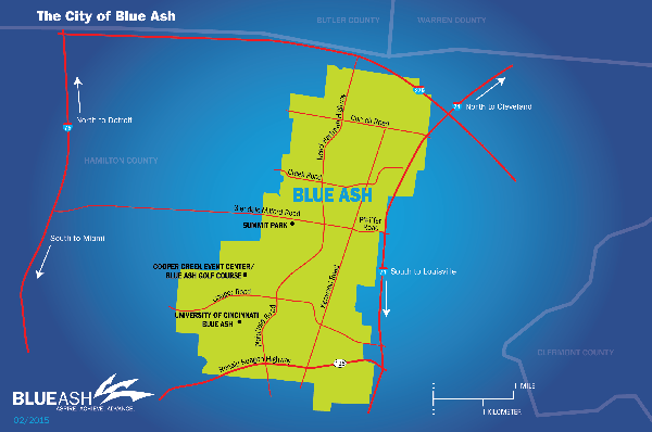 City of Blue Ash Map