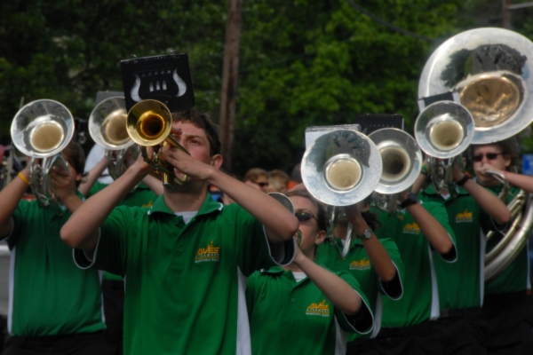 Sycamore Schools Band Playing in parade