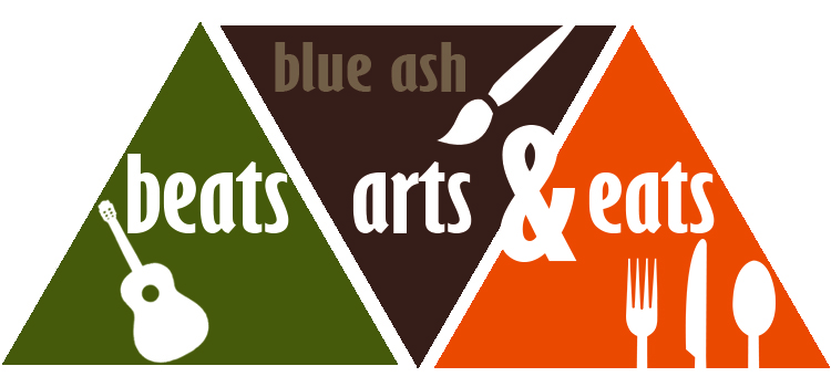 Beats Arts and Eats logo featuring a guitar, paint brush and utensils
