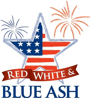 Red White & Blue Ash small
