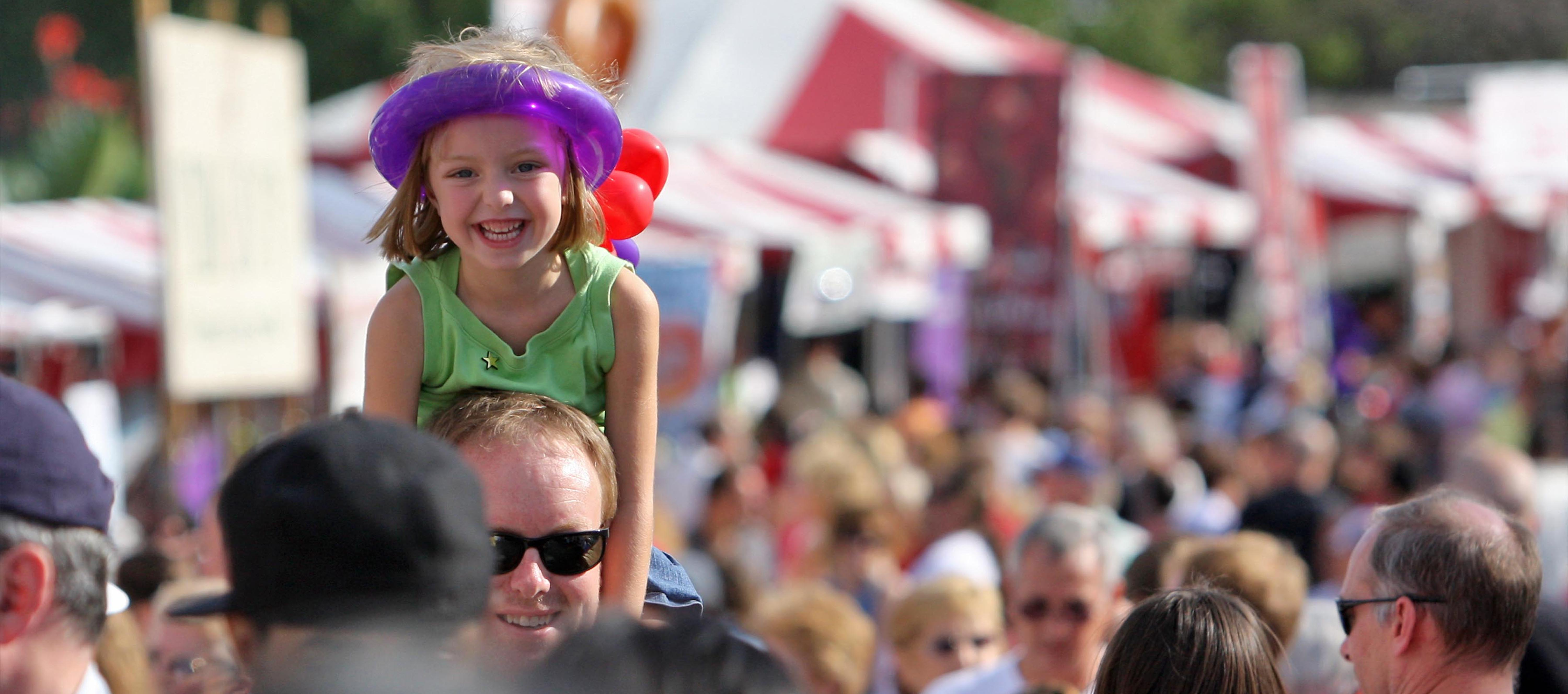 Girl in Crowd at the Taste of Blue Ash