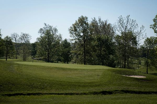 Hole 4 Green Blue Ash Golf Course