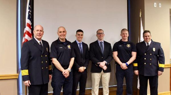 The Blue Ash Fire Department held a formal swearing-in ceremony for four full-time firefighters