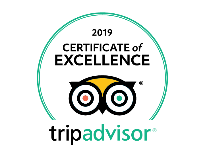 2019 Trip Advisor Certificate of Excellence owl logo