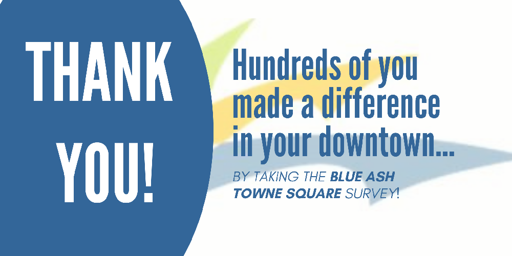 Thank you! Hundreds of you took the the Towne Square survey.