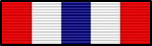 Commendation pin police work red white blue stripes