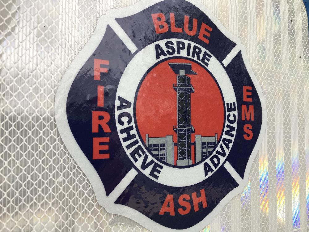 Blue Ash Fire Department patch - Aspire Achieve Advance