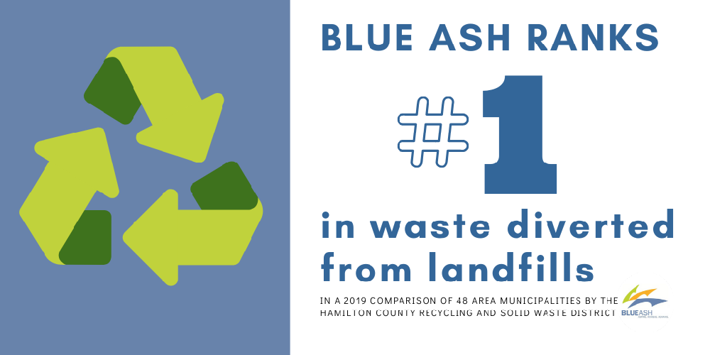 blue ash ranks first in waste diverted from landfills