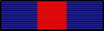 commendation pin community service red and blue stripes