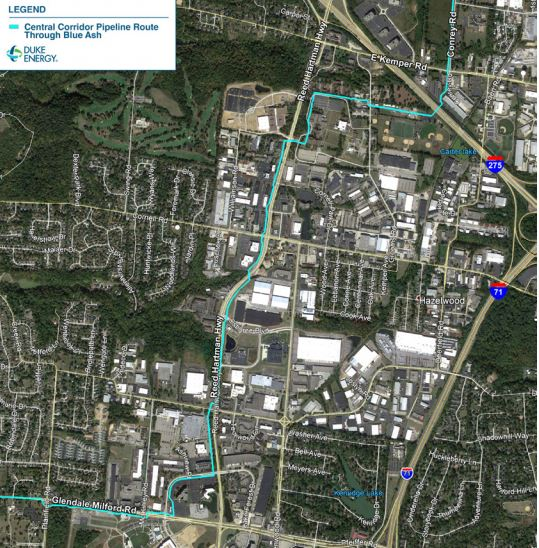 duke pipeline map blue ash