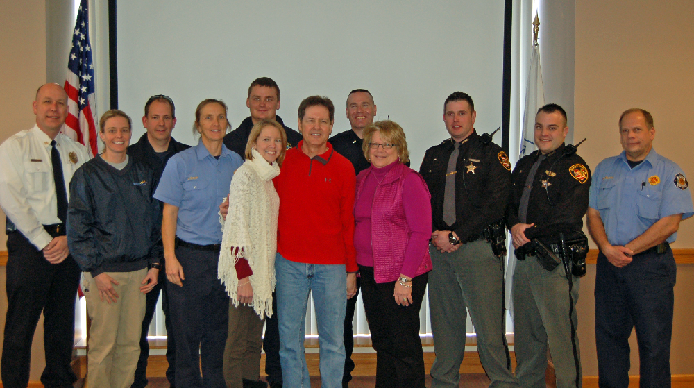 First Responders with Kevin Baum and family