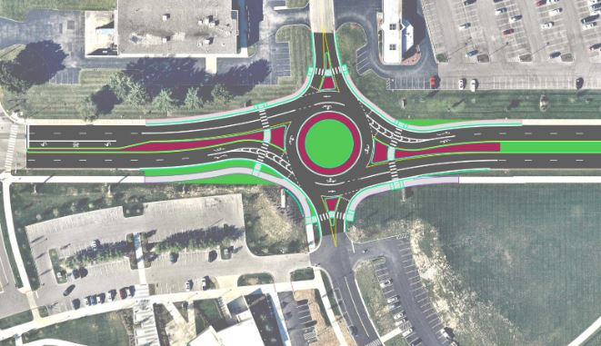lake forest roundabout rendering
