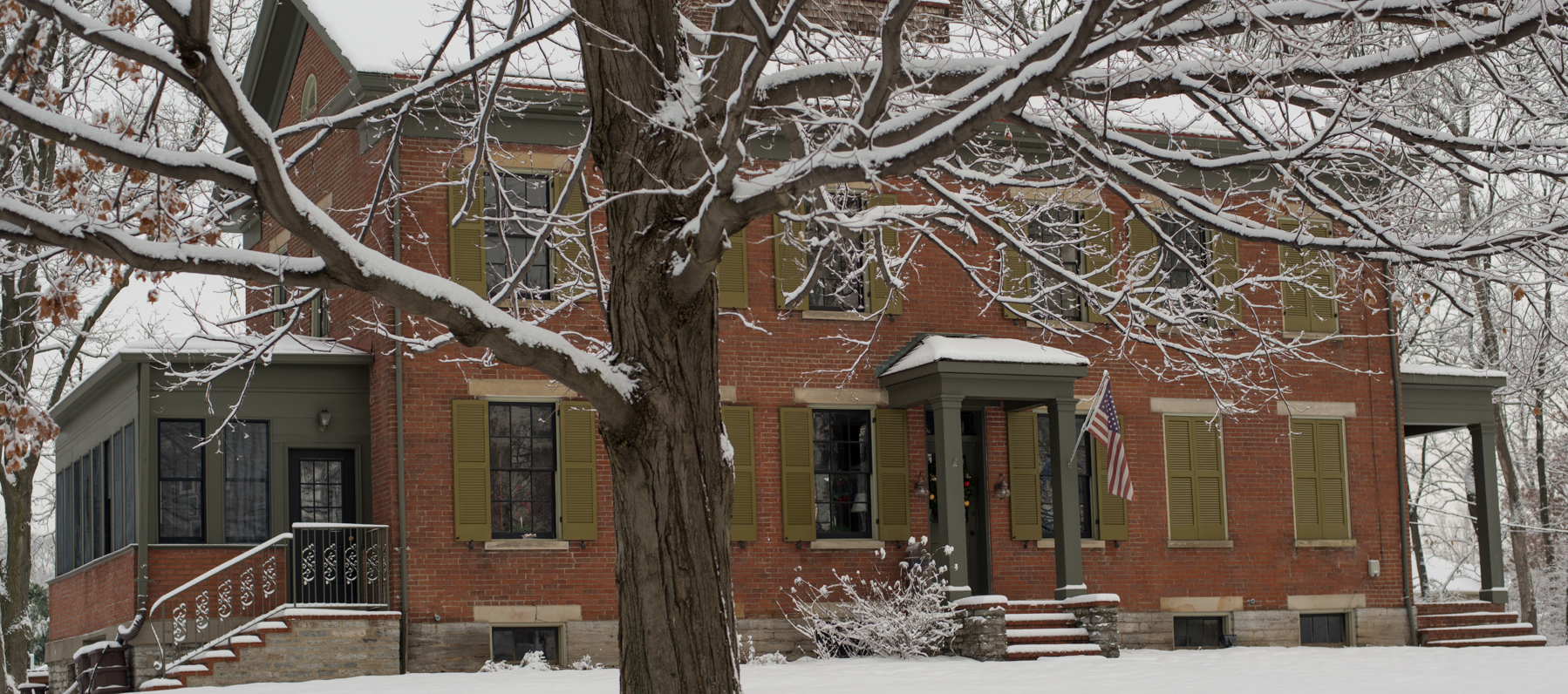 Hunt House in the Winter