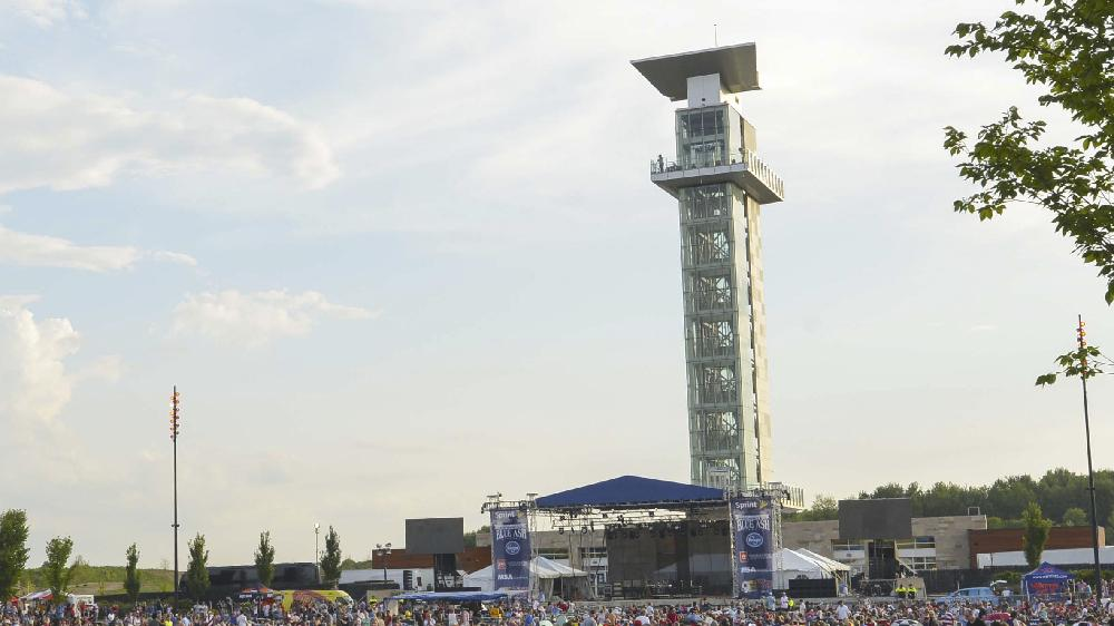 Summit Park Observation Tower with concert stage below